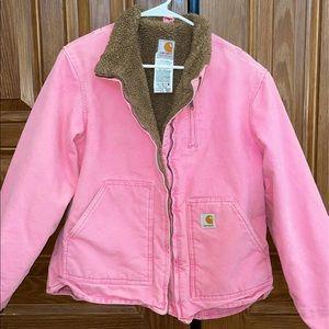 Carhartt pink sherpa jacket